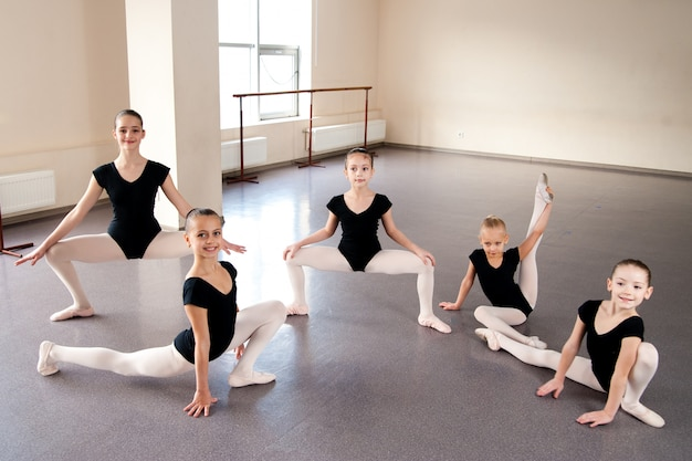 Kinderen, choreografie, ballet, dansen, meisjes, rekken, sporten