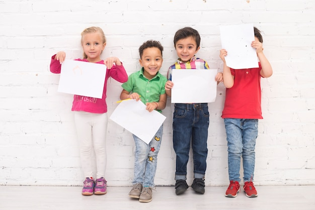 Kinderen groep tekenen
