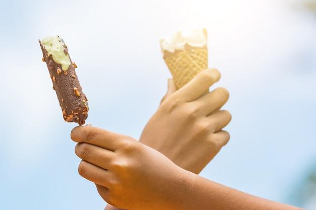 Kinderen houden van ijsjes