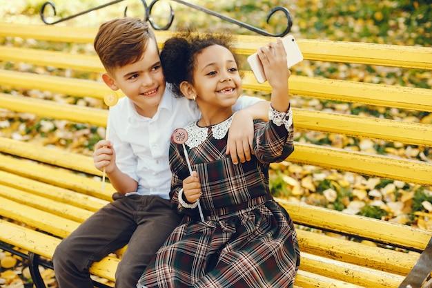 Kinderen in een park