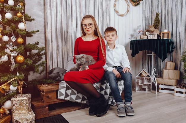 Kinderen met kat