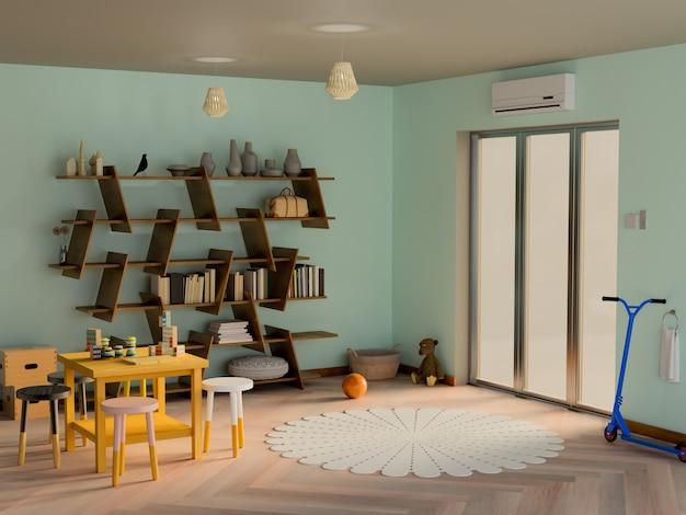 Kinderkamer 3d-rendering