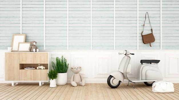 Kinderkamer of woonkamer voor illustraties - 3d-rendering