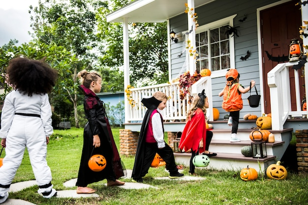 Kindertjes trick or treat