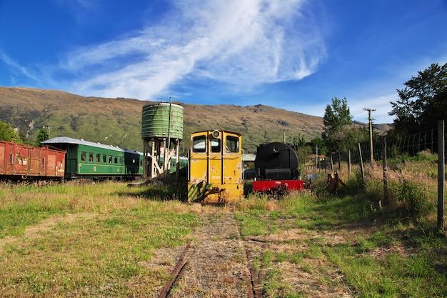 Kingston flyer - oude trein in queenstown, nieuw-zeeland