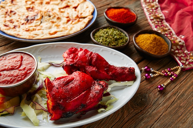 Kip tandoori indiaas recept met kruiden