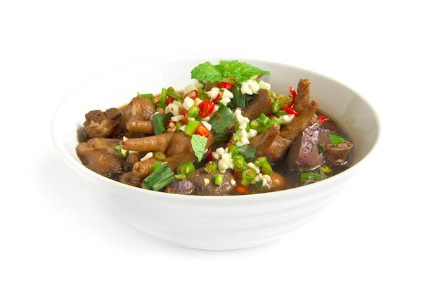 Kippenpoten pittige soep thais eten pittige smakelijke stijl