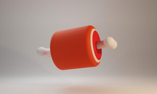 Kippenvlees 3d illustratie ontwerp
