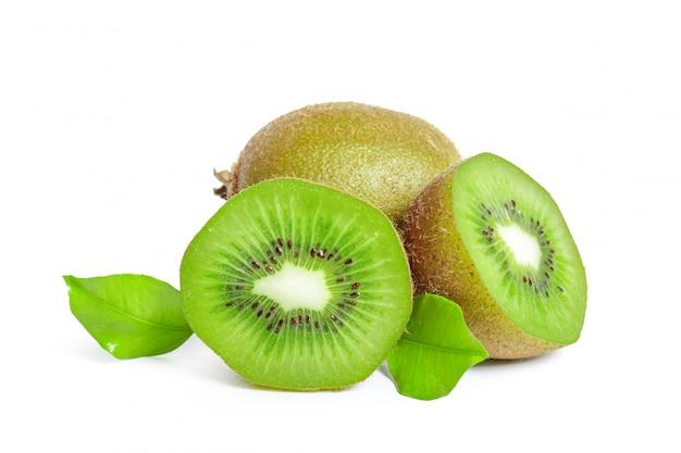 Kiwi's geïsoleerd op wit