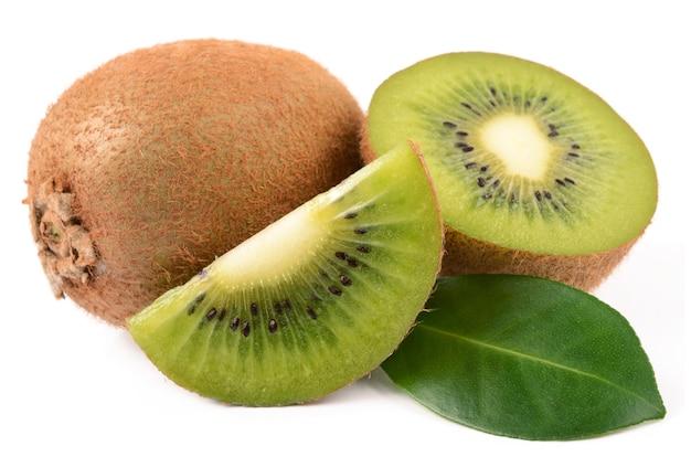 Kiwi's op een witte achtergrond