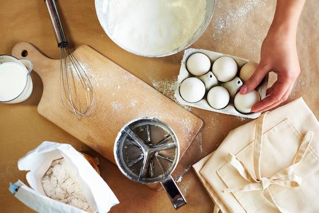 Klaarmaken voor het bakken