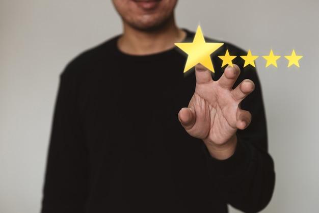 Klantenservice-ervaring en bedrijfstevredenheidsonderzoek concept