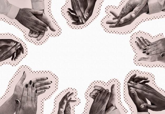 Klap voor onze verzorgers sociale banner sjabloon illustratie