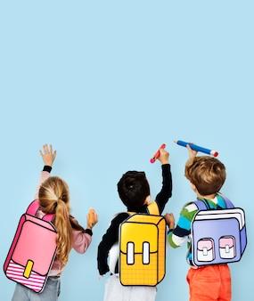 Klasgenoten friends bag school education