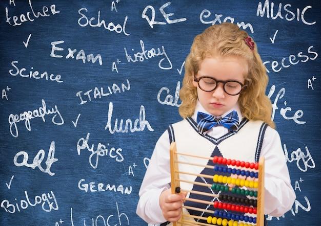 Klaslokaal stropdas lege academische abacus