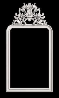 Klassiek frame met ornamentdecor op zwarte muur