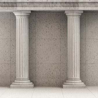 Klassiek oud interieur met kolommen