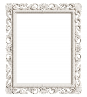 Klassiek spiegelframe geïsoleerd. 3d-rendering