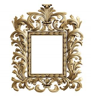 Klassiek spiegellijst. 3d-rendering