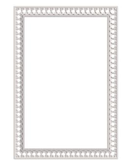 Klassiek vormgevend wit frame met geïsoleerd ornamentdecor