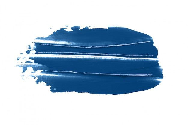 Klassieke blauwe geïsoleerde de vlekvlek van het lippenstiftmonster