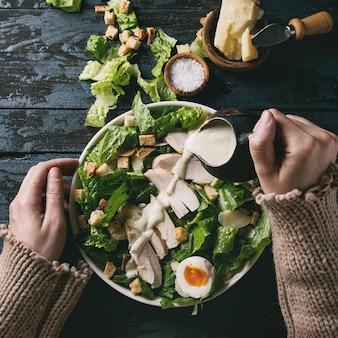 Klassieke caesar-salade