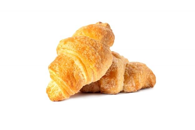 Klassieke franse croissant zoete broodjes, ontbijt voor ontbijt.