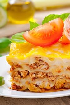 Klassieke lasagne met bolognesesaus