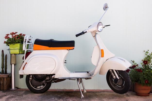 Klassieke vintage motorfiets