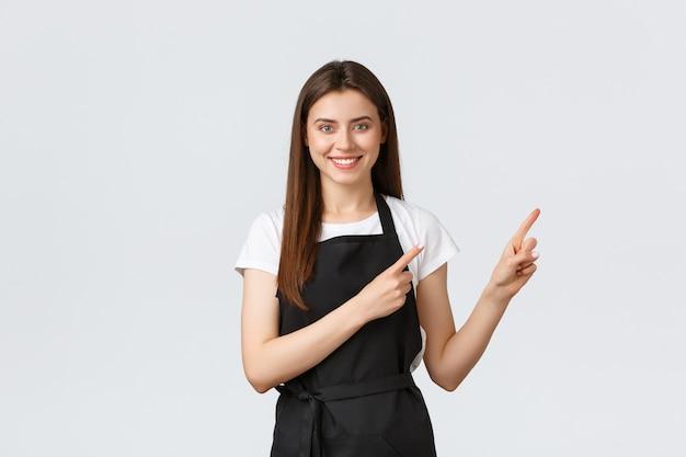 Klein bedrijf, werknemers en coffeeshopconcept.