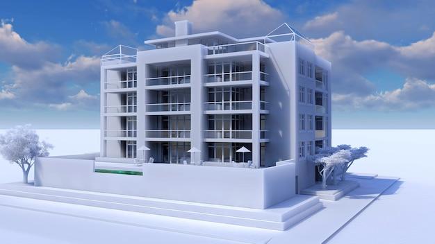 Klein functioneel condominium met een eigen afgesloten ruimte, garage en zwembad