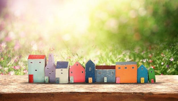 Klein huis. eco-vriendelijk huis concept