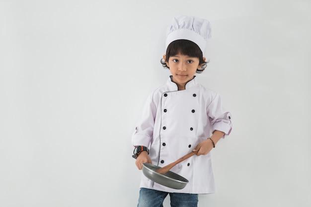 Klein kind beroep uniform doen alsof