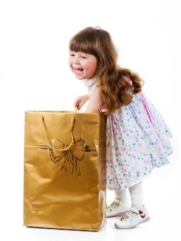 Klein meisje winkelen