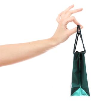 Kleine boodschappentas in de hand