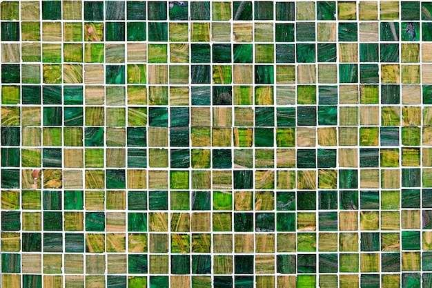 Kleine groene mozaïektegels