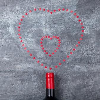 Kleine harten, schiet uit de fles. valentin day.