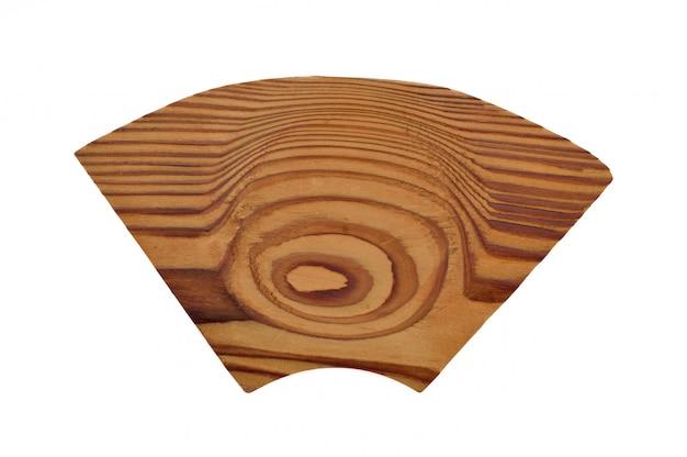 Kleine houten plaat japanse stijl op wit