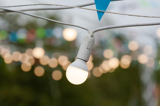 Kleine lampen evenement decoratie buitenshuis