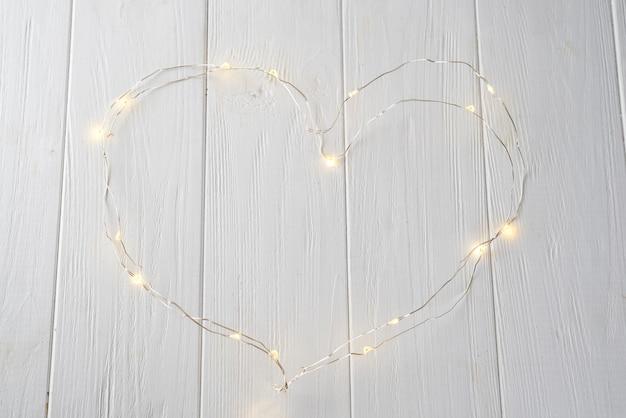Kleine lichten in hartvorm