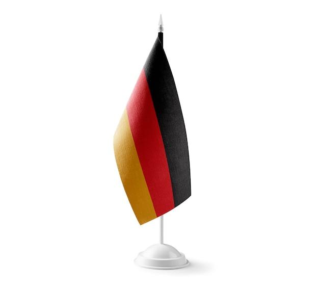 Kleine nationale vlag van duitsland op wit