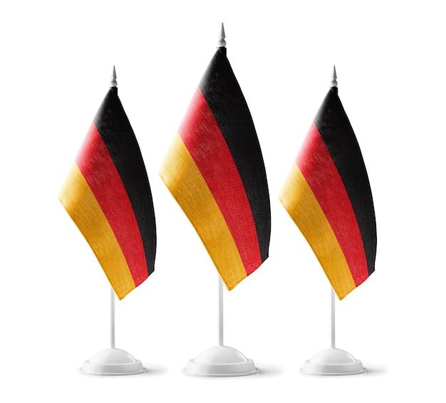 Kleine nationale vlaggen van duitsland op wit