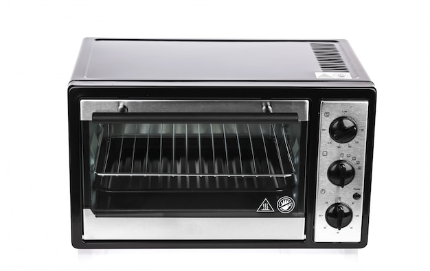 Kleine oven op een witte achtergrond