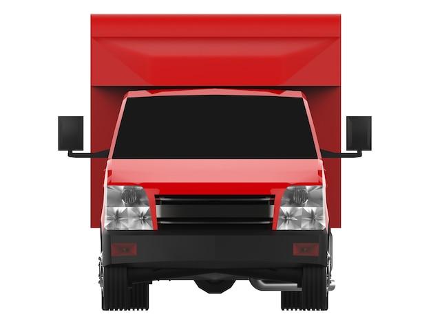Kleine rode vrachtwagen