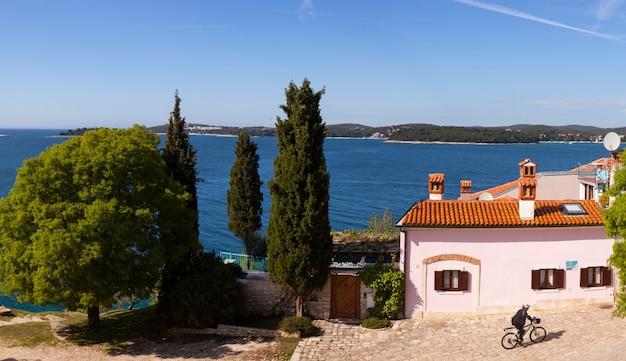 Kleine stad rovinj in istrië, kroatië