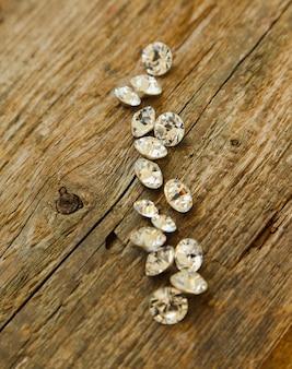 Kleine stukjes diamant