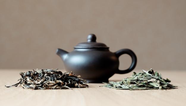Kleine theepot en thee