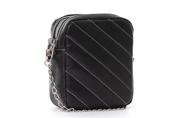 Kleine vierkante handtas in zwart op wit