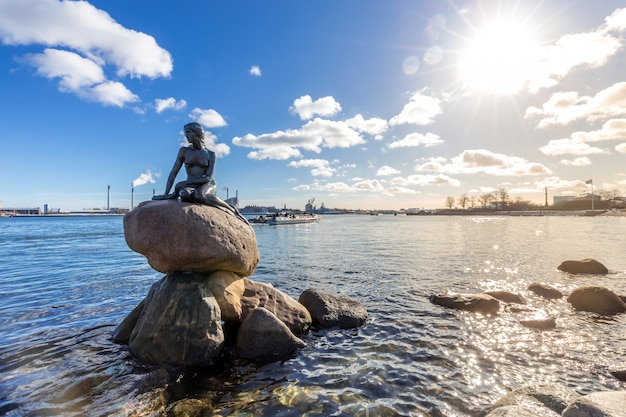 Kleine zeemeermin standbeeld kopenhagen