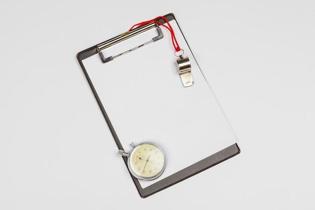 Klembord met stopwatch